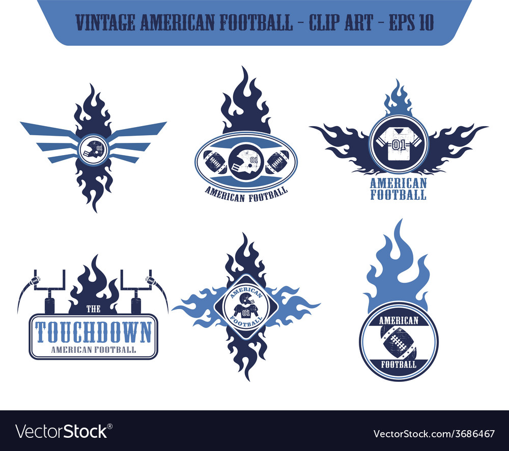 American football label sticker vector | Price: 1 Credit (USD $1)