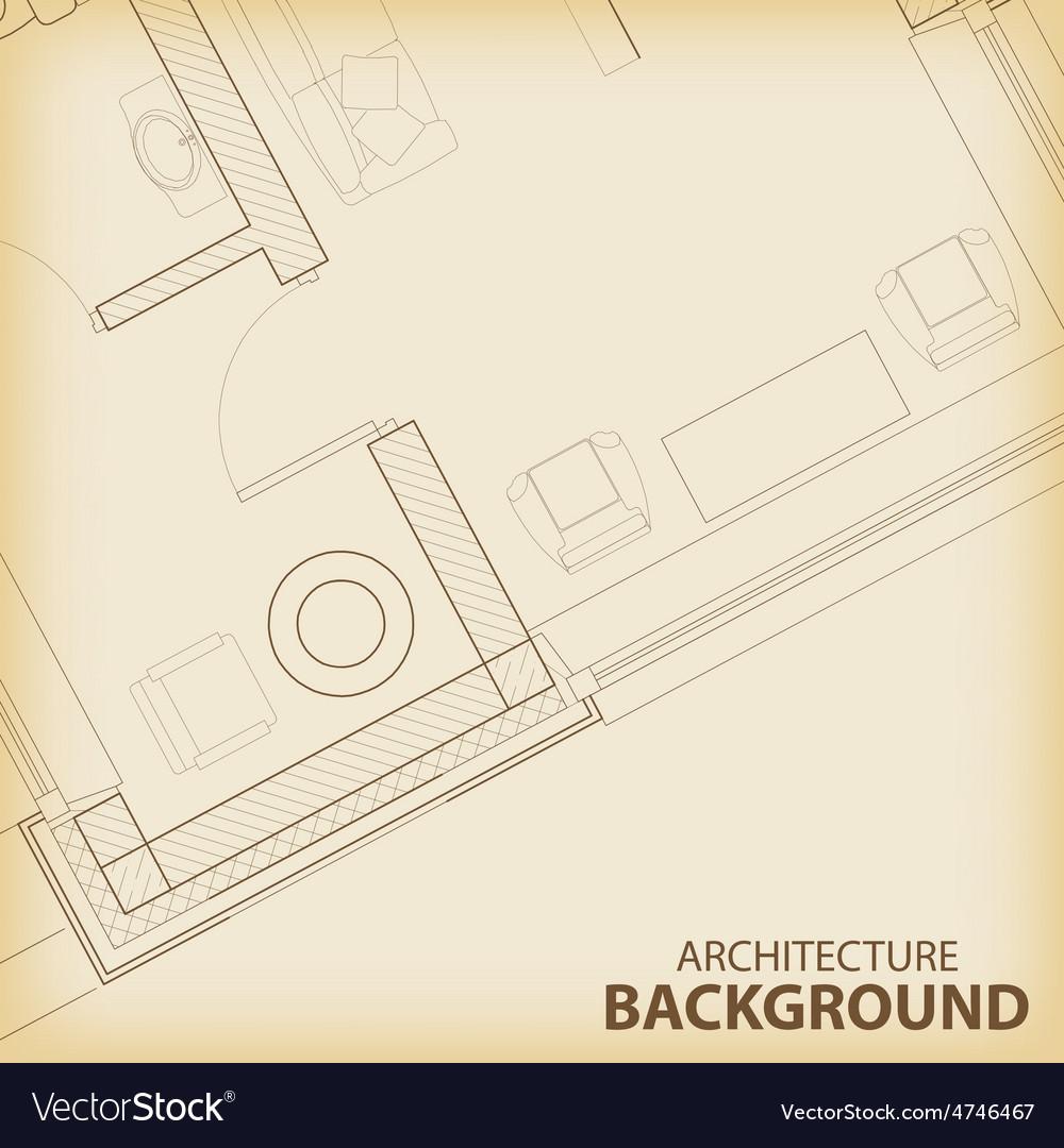 Architecture interior plan background vector | Price: 1 Credit (USD $1)