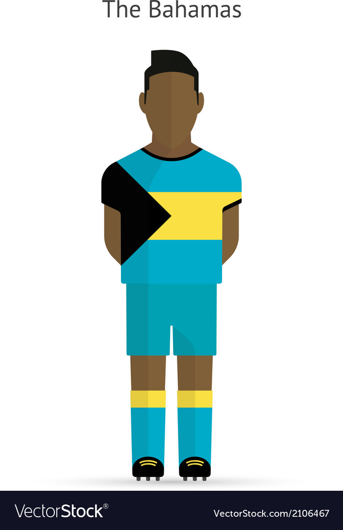 Bahamas football player soccer uniform vector | Price: 1 Credit (USD $1)