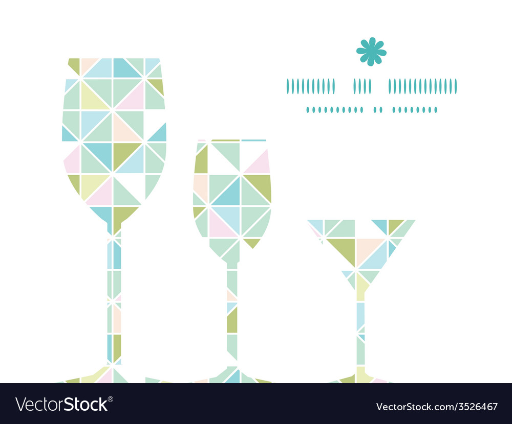 Colorful pastel triangle texture three wine vector   Price: 1 Credit (USD $1)