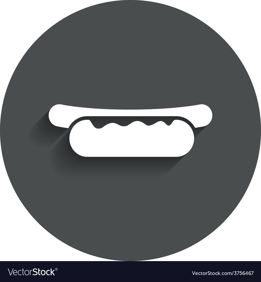 Hotdog sandwich with mustard icon sausage sign vector | Price: 1 Credit (USD $1)