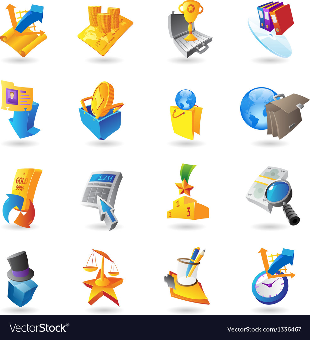 Icons for business and finance vector | Price: 1 Credit (USD $1)