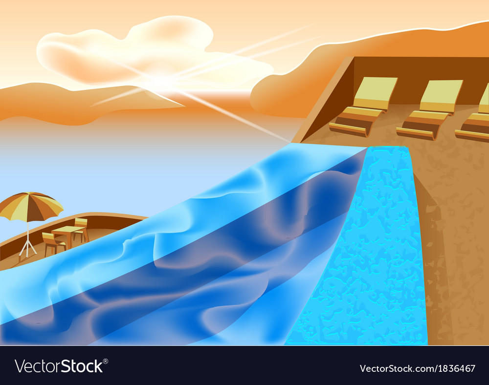 Infinity pool vector | Price: 1 Credit (USD $1)