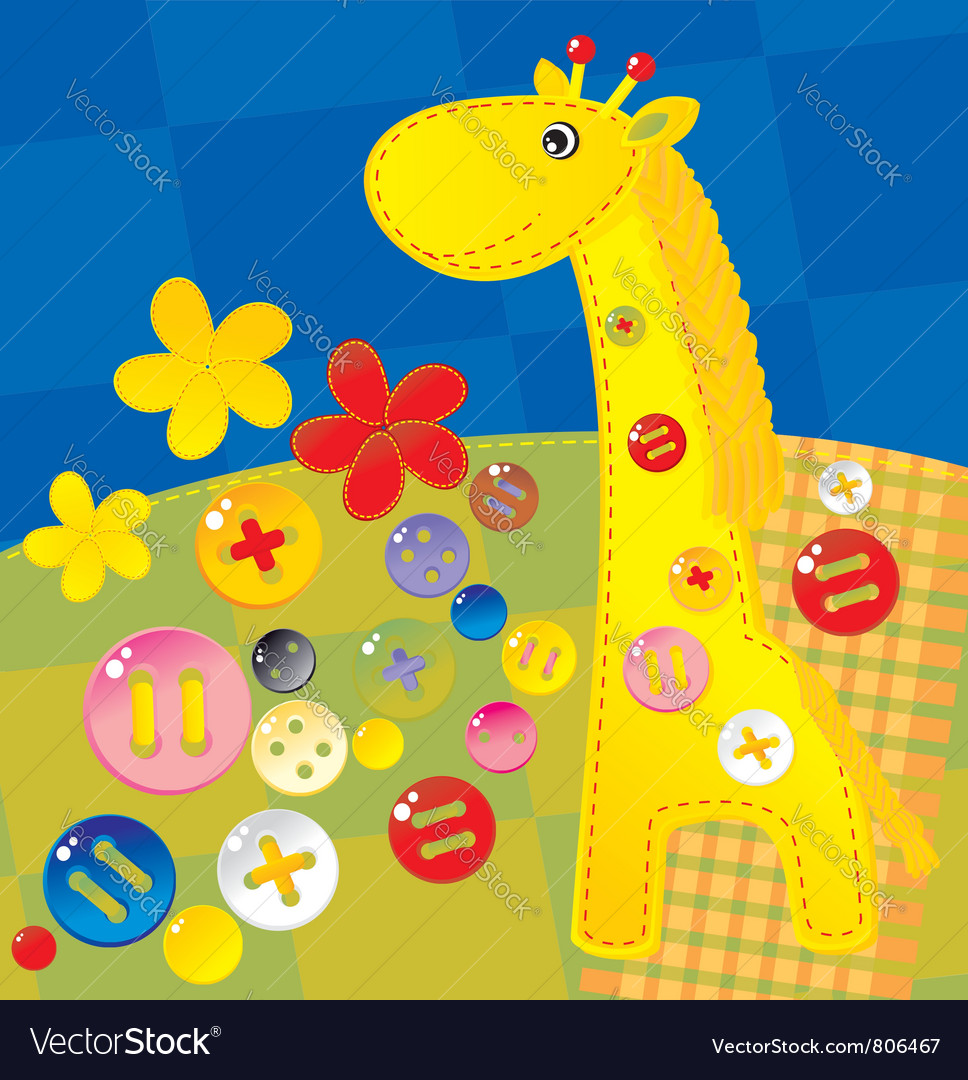 Needlework giraffe vector | Price: 1 Credit (USD $1)