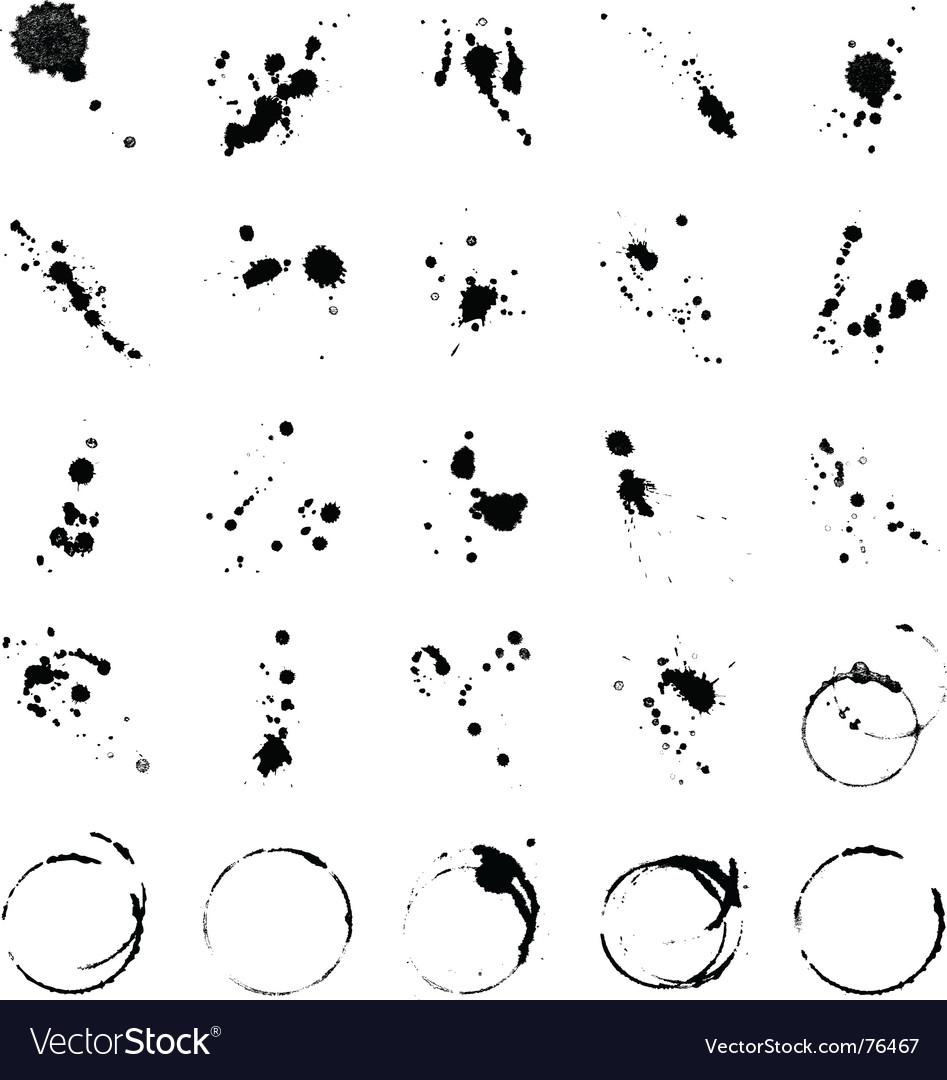 Paint marks vector
