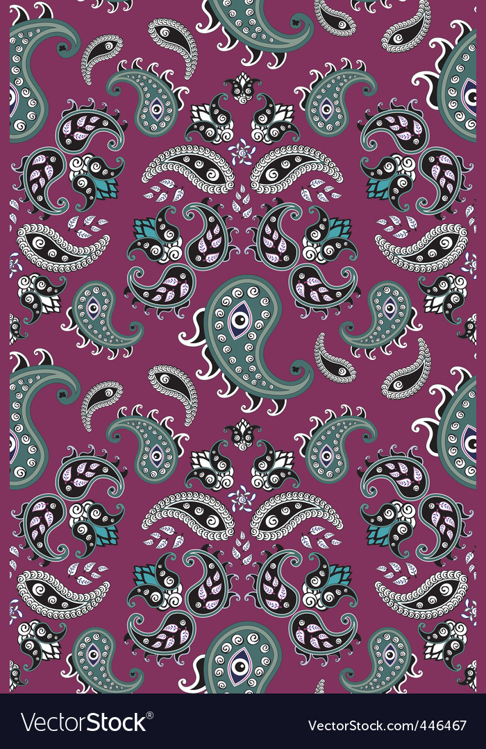 Retro paisley pattern vector | Price: 1 Credit (USD $1)