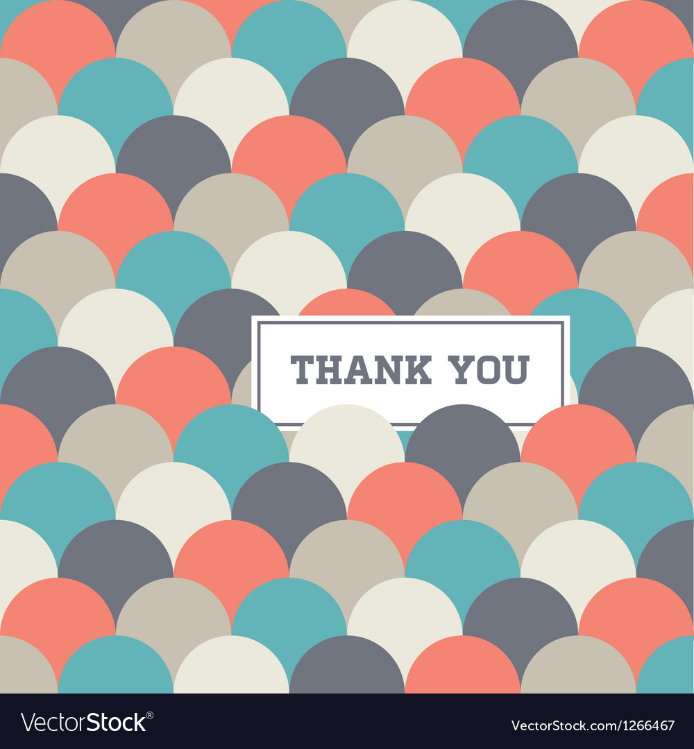Thank you card circle japanese background vector | Price: 1 Credit (USD $1)