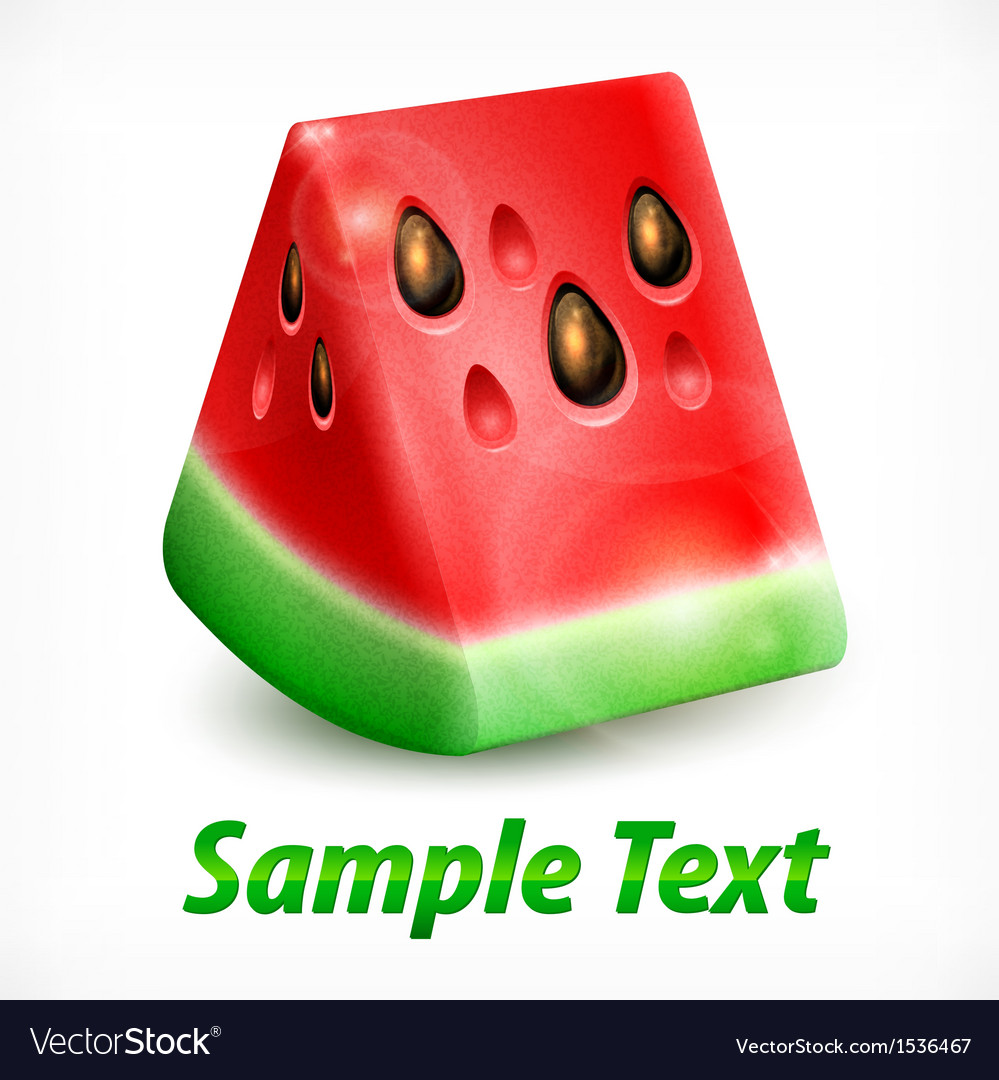 Watermelon on white  text vector | Price: 3 Credit (USD $3)