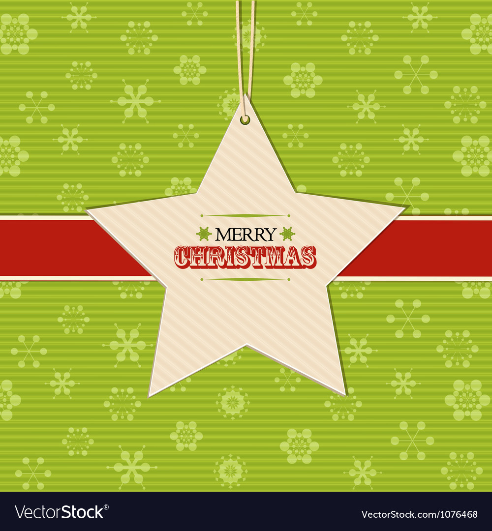 Christmas star label background vector | Price: 1 Credit (USD $1)