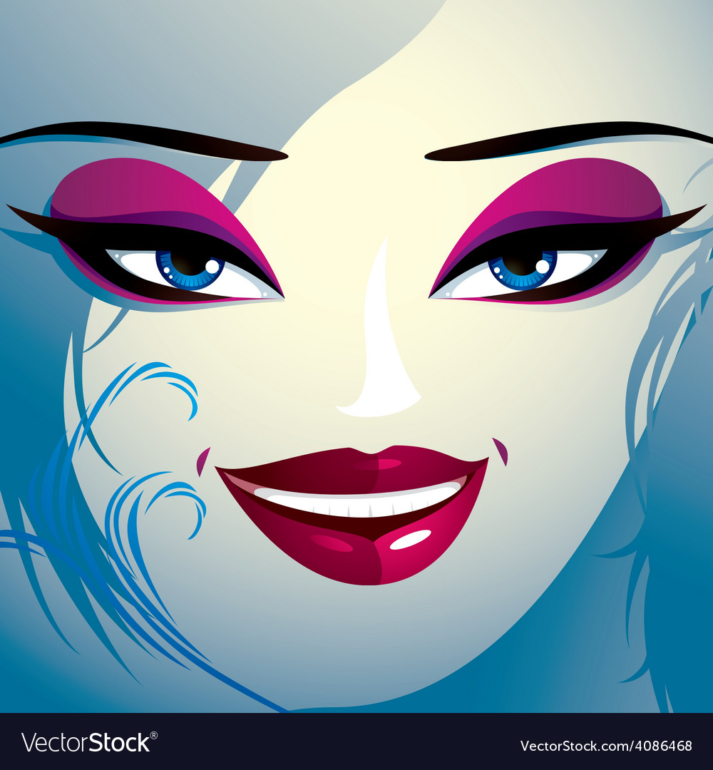 Face makeup lips eyes and eyebrows of an vector   Price: 1 Credit (USD $1)