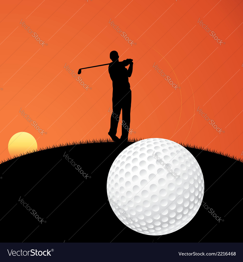 Golf player vector | Price: 1 Credit (USD $1)