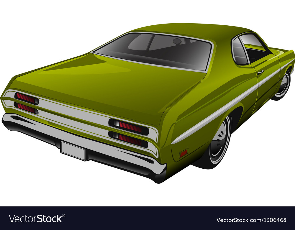 Green muscle car vector | Price: 3 Credit (USD $3)