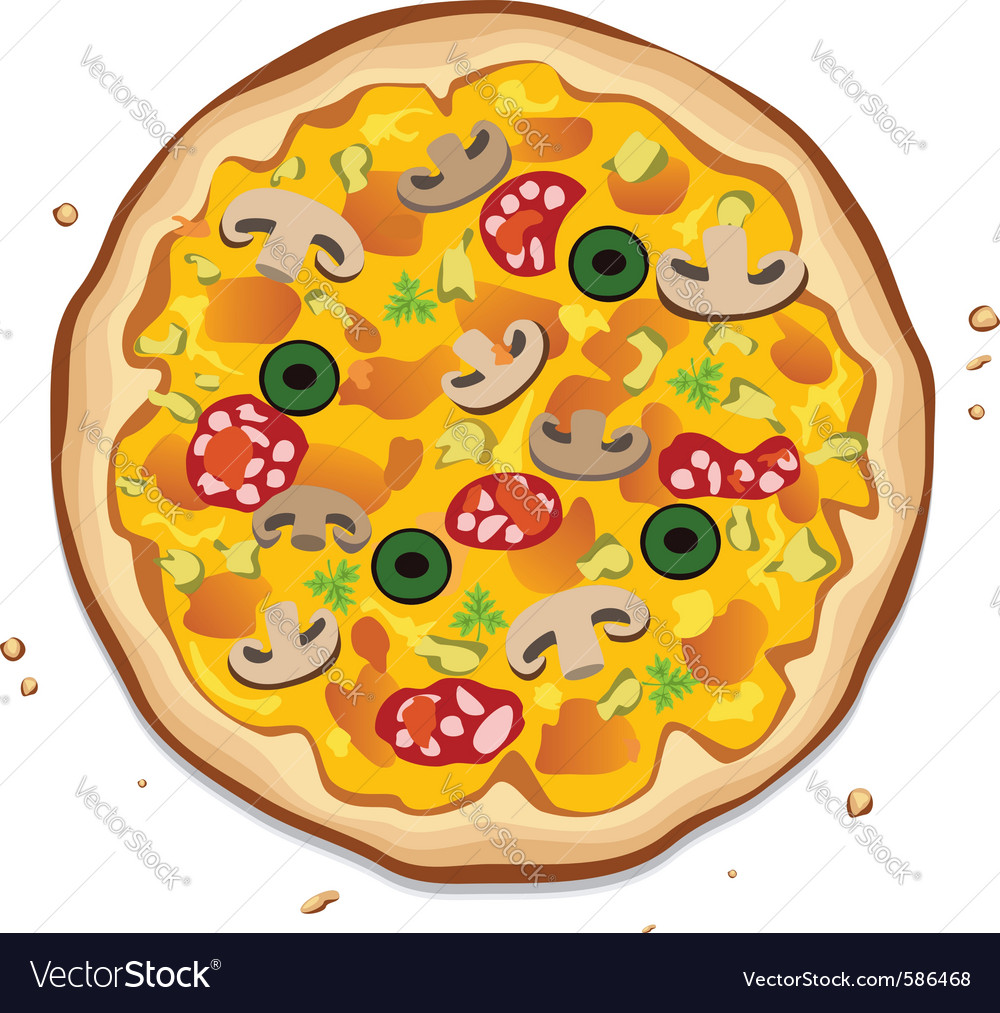 Italian pizza vector | Price: 1 Credit (USD $1)