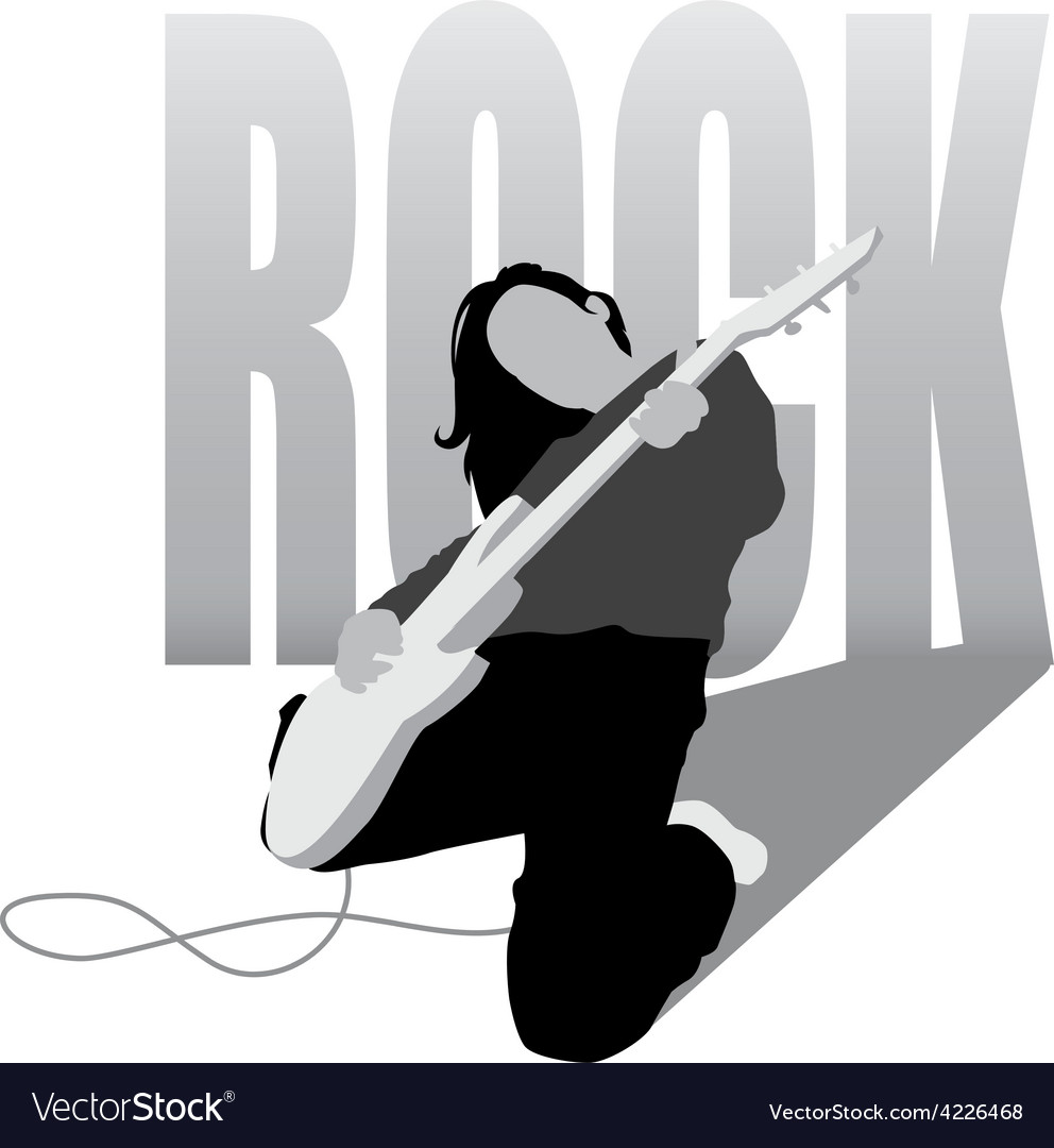 Rock girl vector | Price: 1 Credit (USD $1)