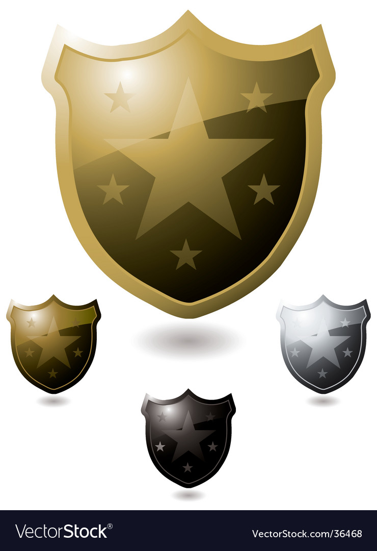 Star shield vector | Price: 1 Credit (USD $1)