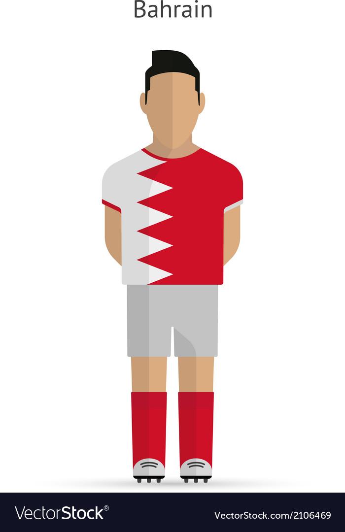 Bahrain football player soccer uniform vector | Price: 1 Credit (USD $1)