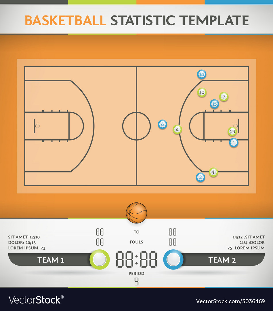 Basketball statistic vector | Price: 1 Credit (USD $1)