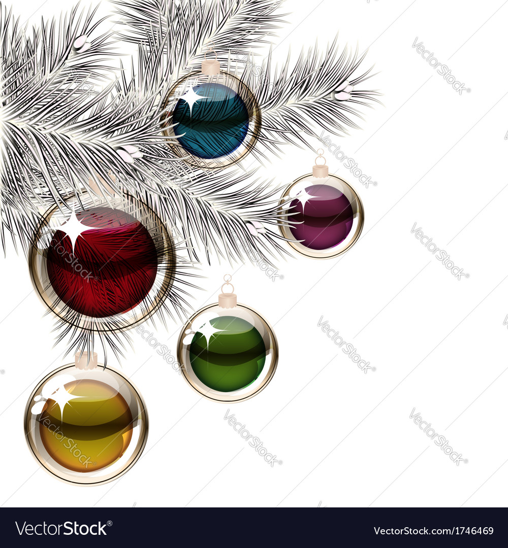 Christmas tree and transparent balls vector | Price: 1 Credit (USD $1)