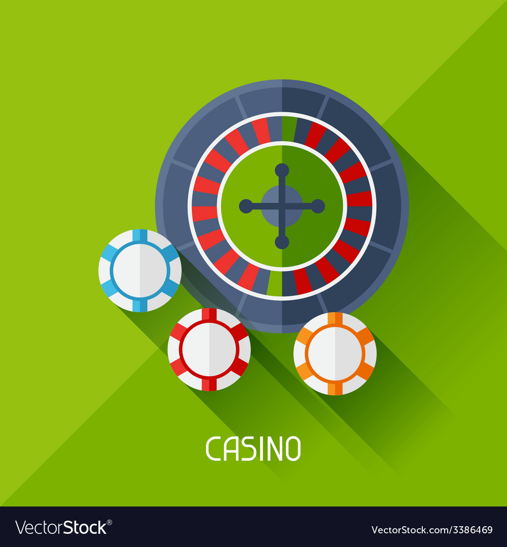 Game with casino in flat design style vector | Price: 1 Credit (USD $1)