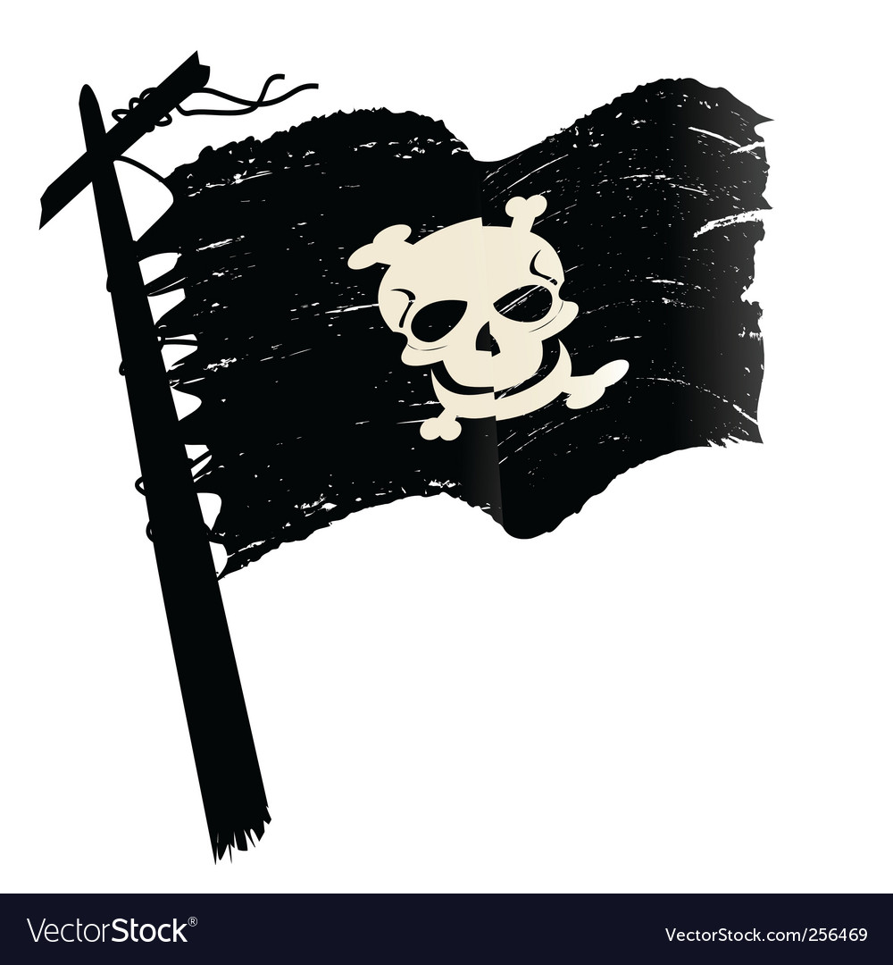 Grunge pirate flag vector | Price: 1 Credit (USD $1)