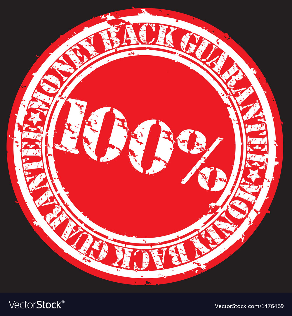 Money back guarantee 100 percent stamp vector | Price: 1 Credit (USD $1)