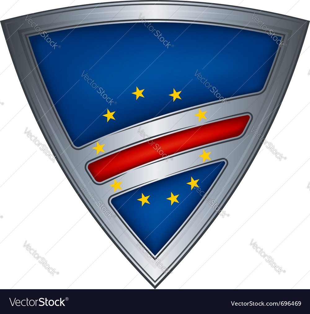 Steel shield with flag cape verde vector | Price: 1 Credit (USD $1)