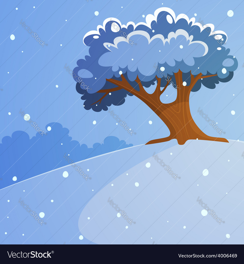 Tree on the hill vector | Price: 5 Credit (USD $5)