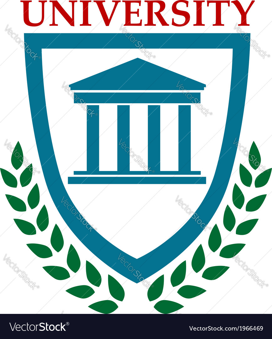 University emblem with laurel wreath vector | Price: 1 Credit (USD $1)