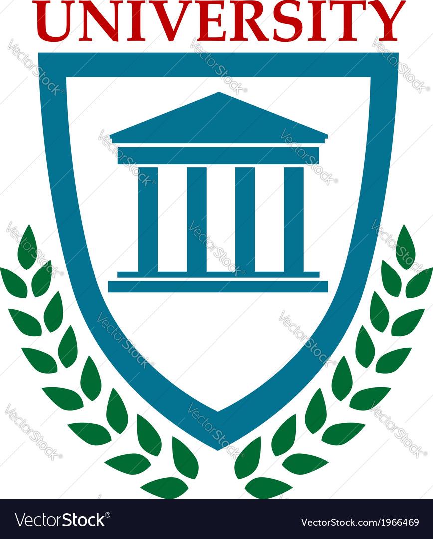 University emblem with laurel wreath vector | Price: 1 Credit (USD $1)