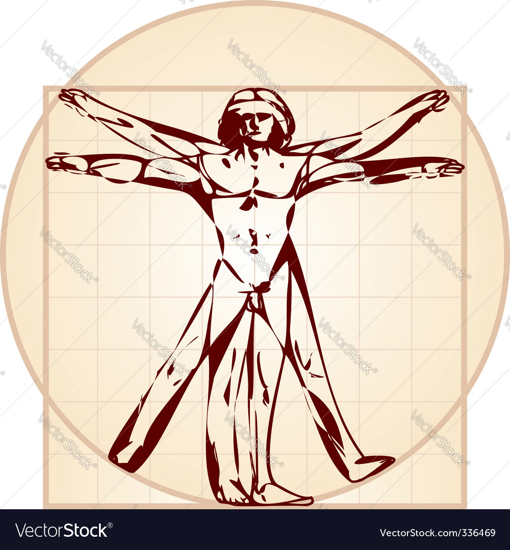 Vitruvian man stylized version vector | Price: 1 Credit (USD $1)