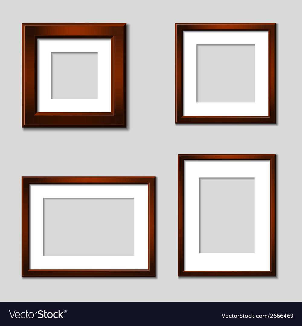 Wooden mahogany picture frames vector | Price: 1 Credit (USD $1)