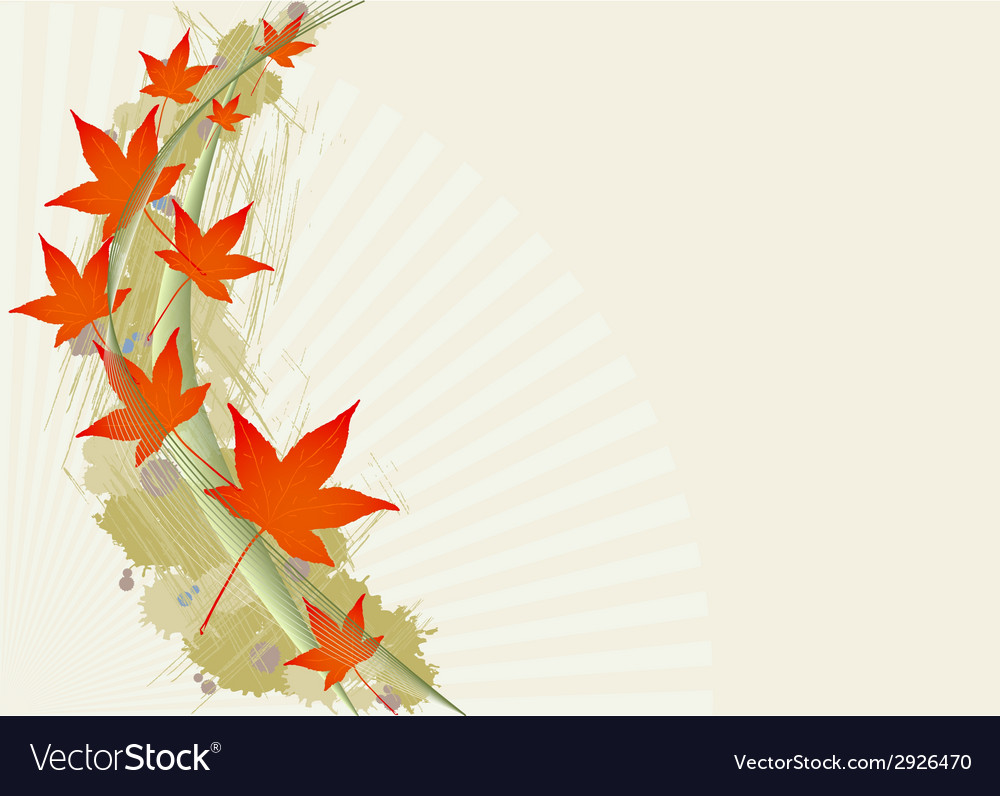 Background with leafs vector   Price: 1 Credit (USD $1)