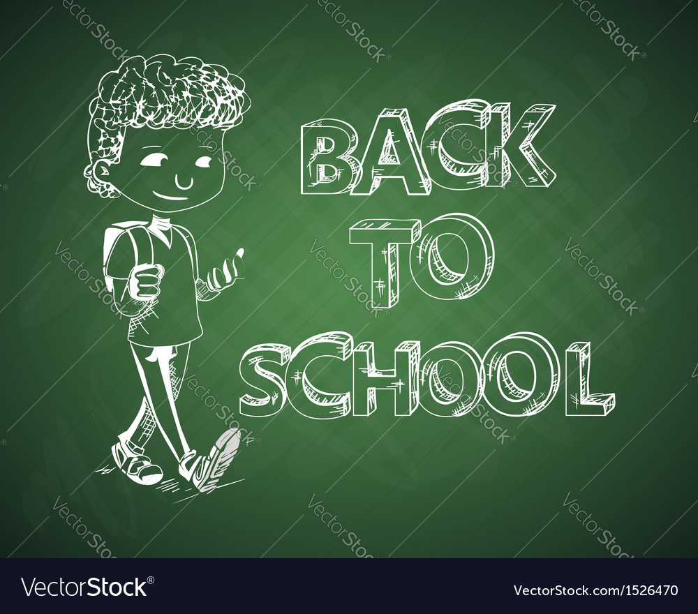Education back to school chalboard kid vector | Price: 1 Credit (USD $1)