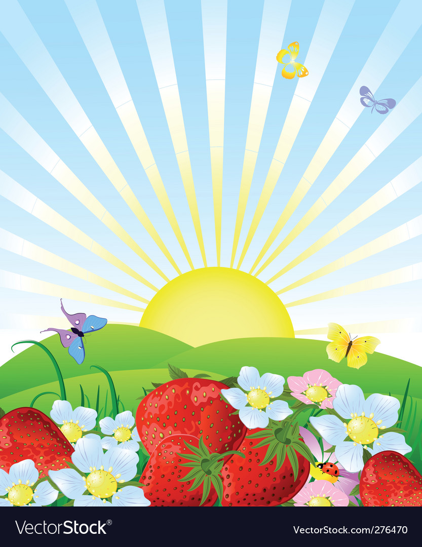 Fresh strawberries vector | Price: 3 Credit (USD $3)
