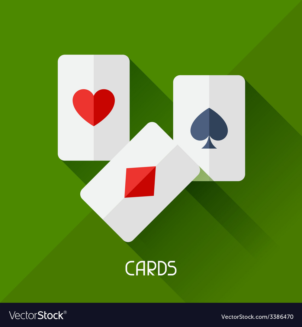 Game with cards in flat design style vector | Price: 1 Credit (USD $1)