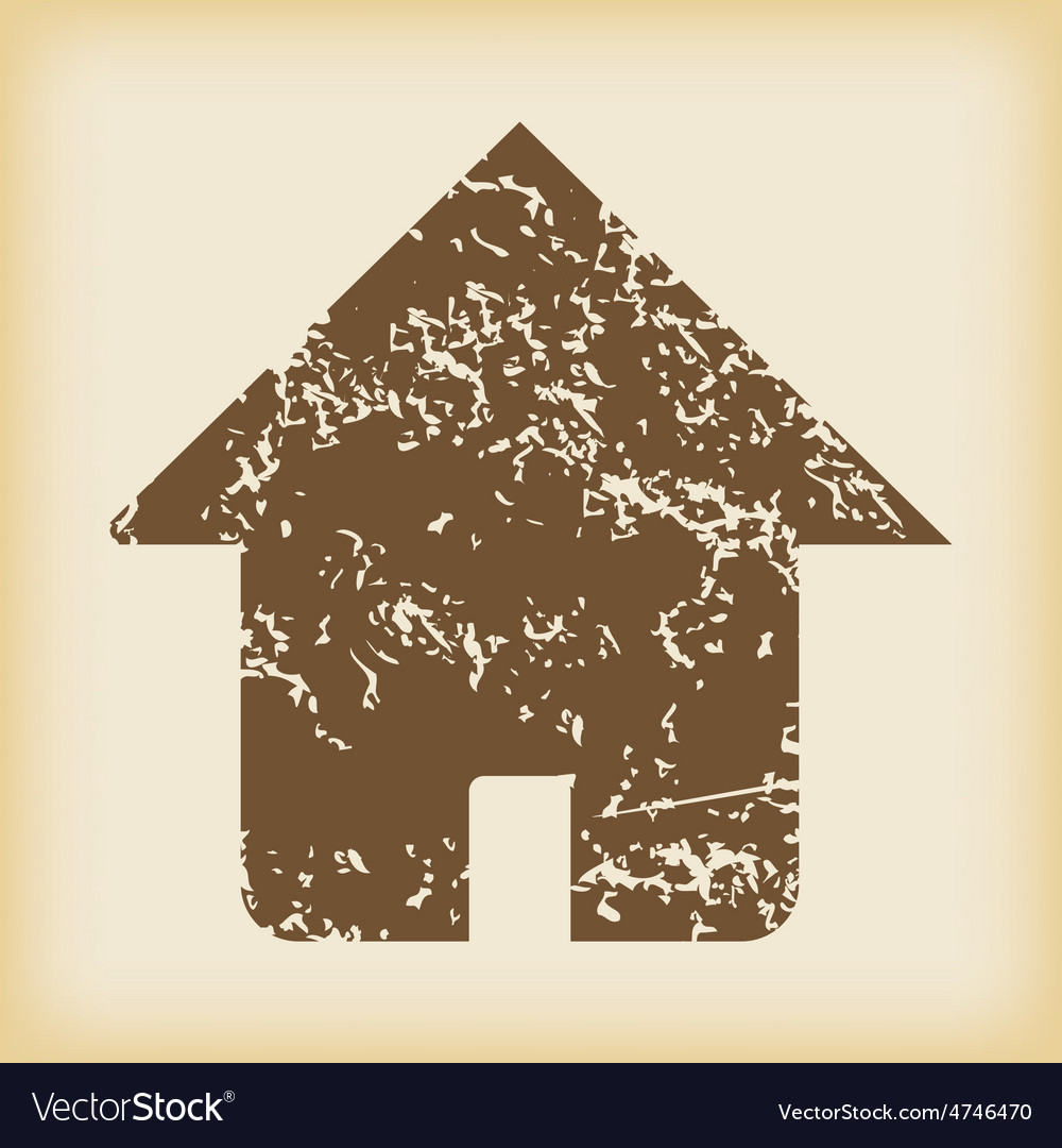 Grungy house icon vector | Price: 1 Credit (USD $1)