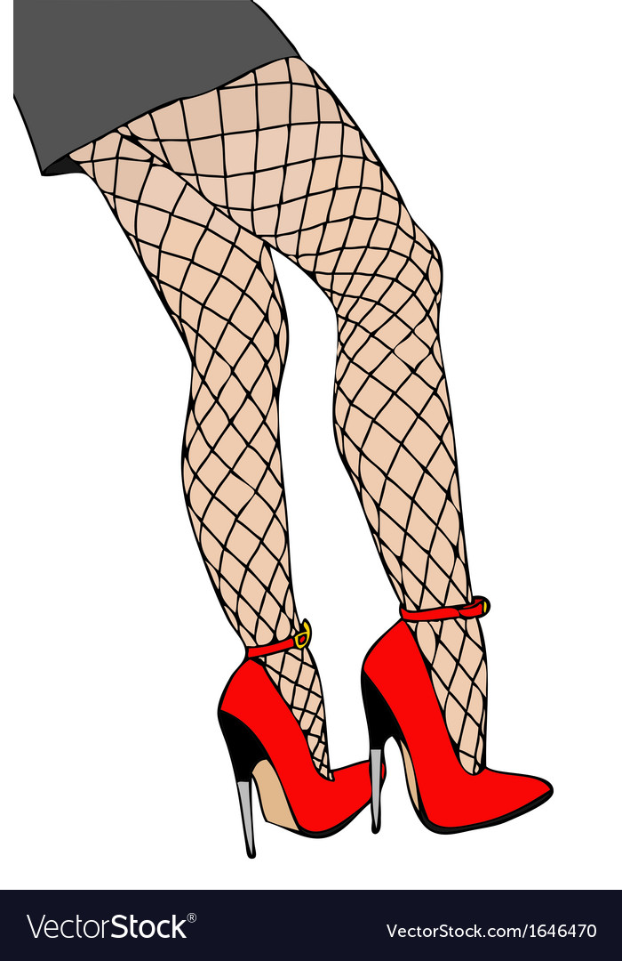 Legs and fishnet stockings vector | Price: 1 Credit (USD $1)