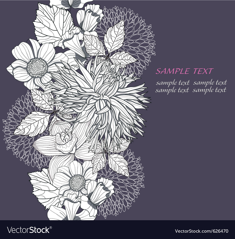 Modern flowers vector | Price: 1 Credit (USD $1)