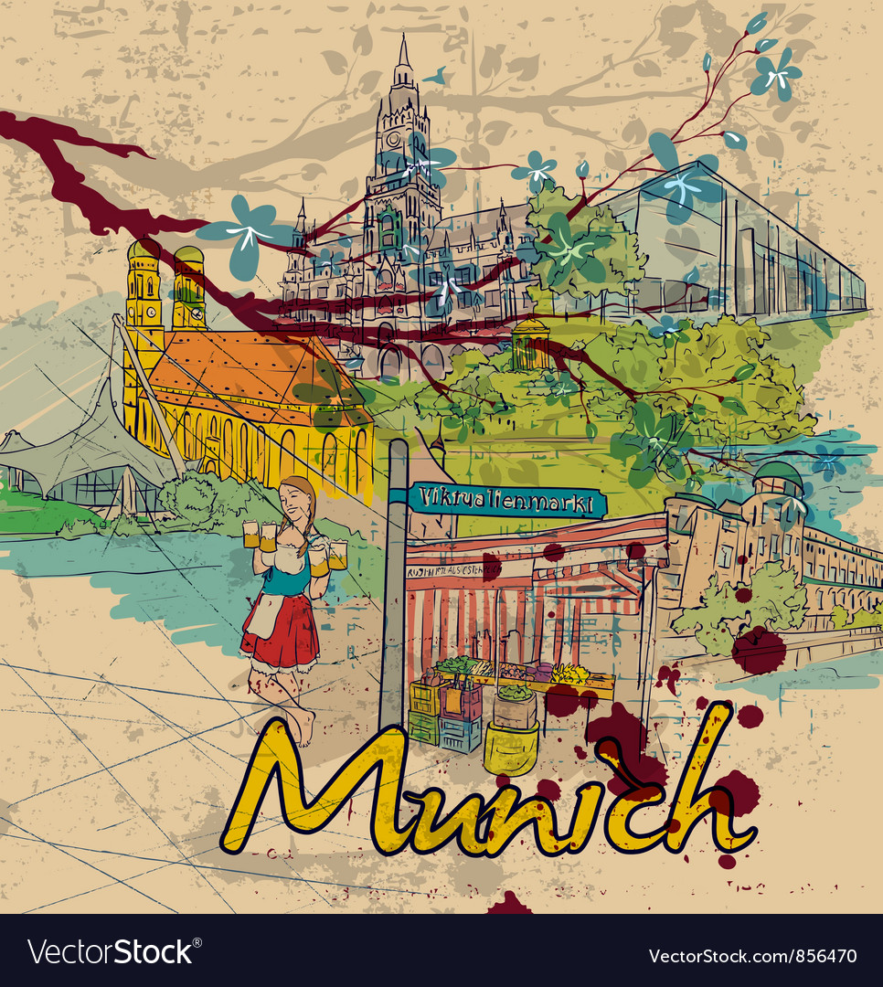 Munich doodles vector | Price: 3 Credit (USD $3)