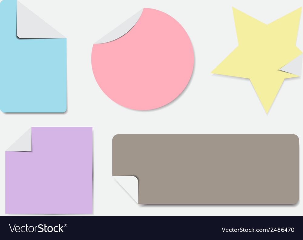 Pastel stamp label vector | Price: 1 Credit (USD $1)