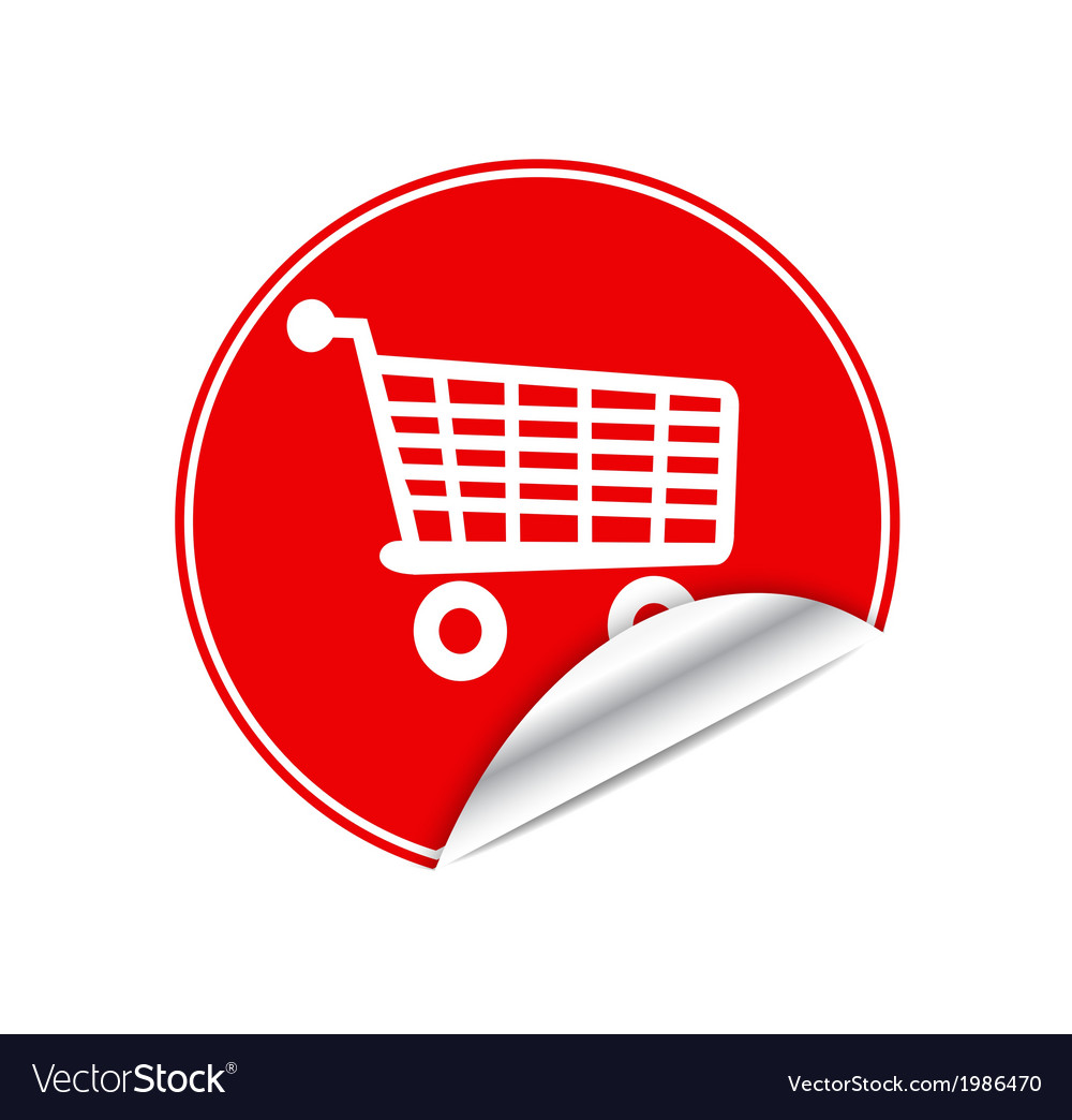 Red sticker trolley vector   Price: 1 Credit (USD $1)