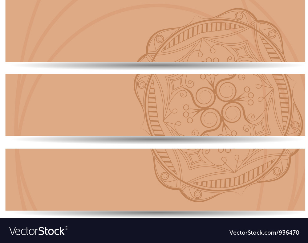 Set of horizontal banners hand drawing eps10 vector | Price: 1 Credit (USD $1)