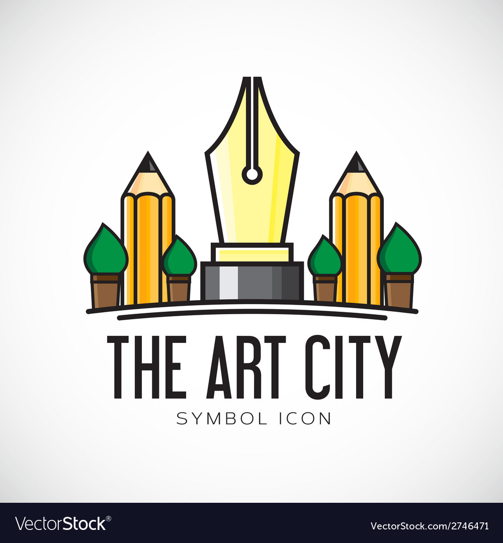 Art city concept symbol icon or logo template vector | Price: 1 Credit (USD $1)