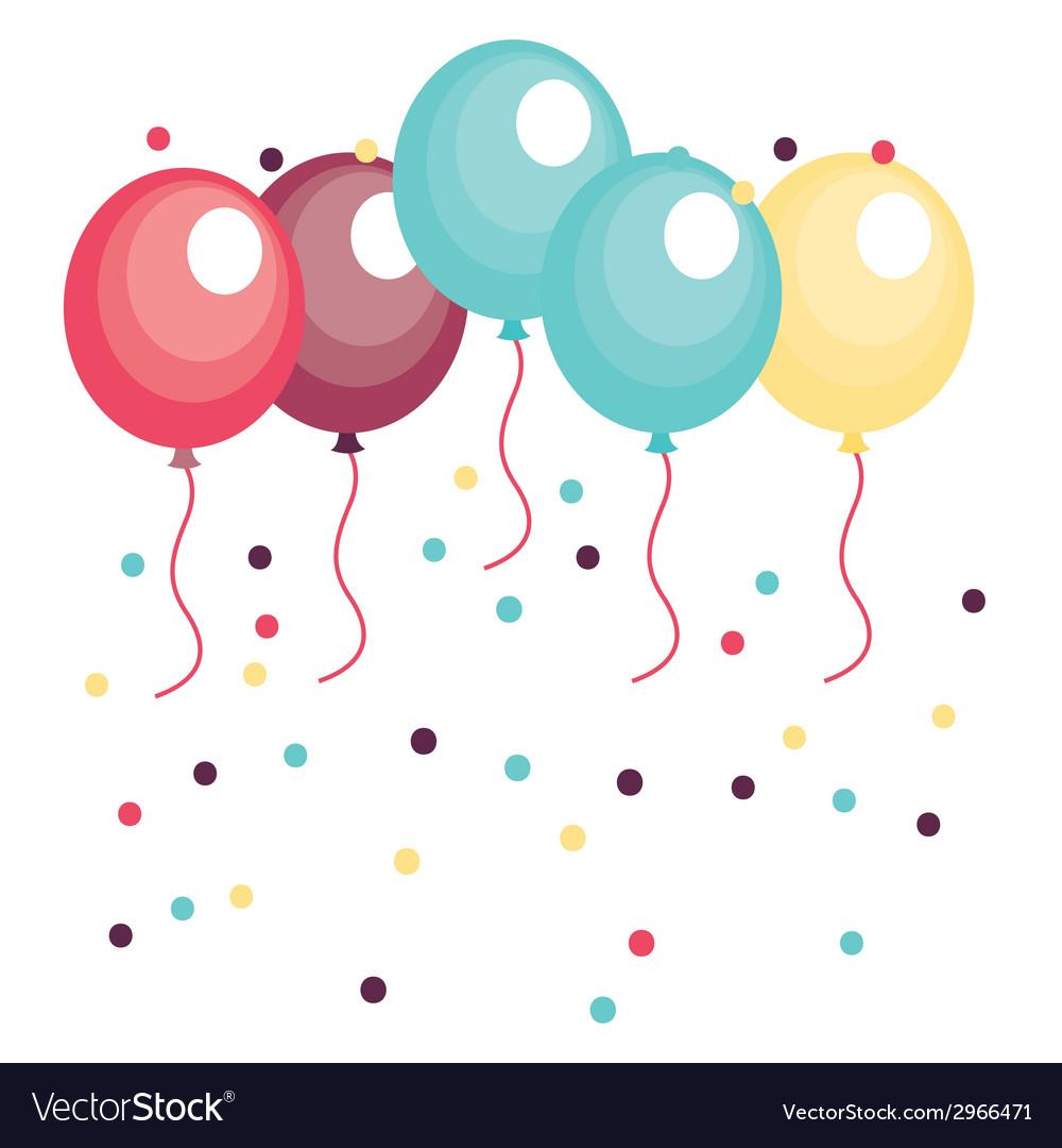 Balloons design vector | Price: 1 Credit (USD $1)