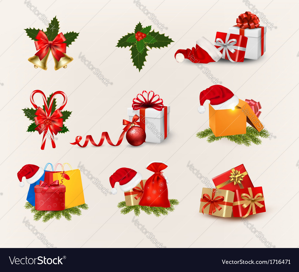 Big set of christmas icons and objects vector | Price: 1 Credit (USD $1)