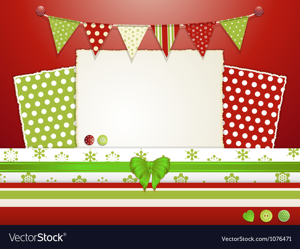 Christmas scrapbooking layout vector | Price: 1 Credit (USD $1)