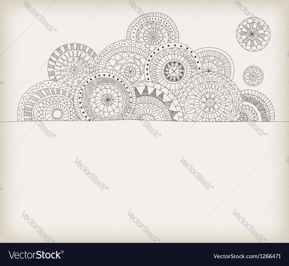 Circles doodle vector | Price: 1 Credit (USD $1)