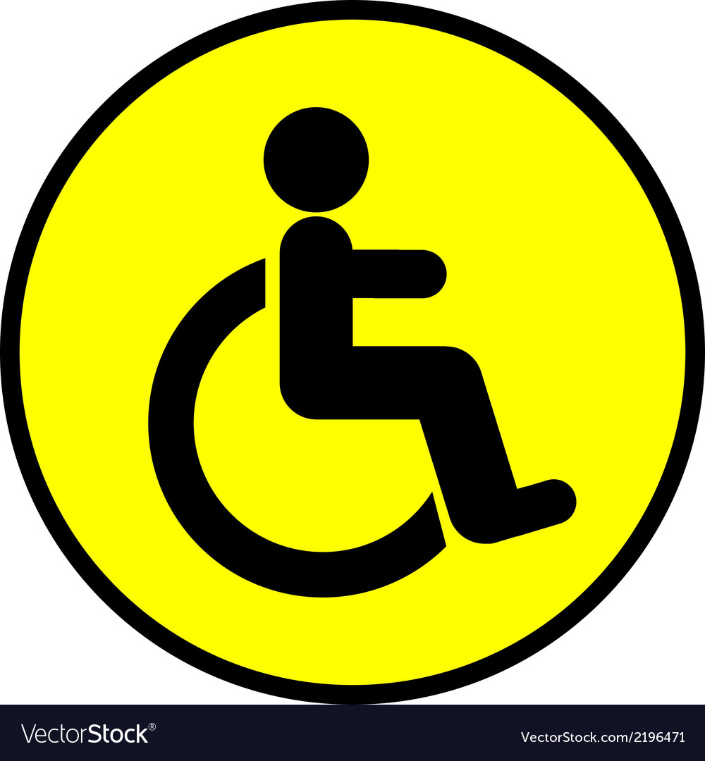 Disabled icon sign vector   Price: 1 Credit (USD $1)