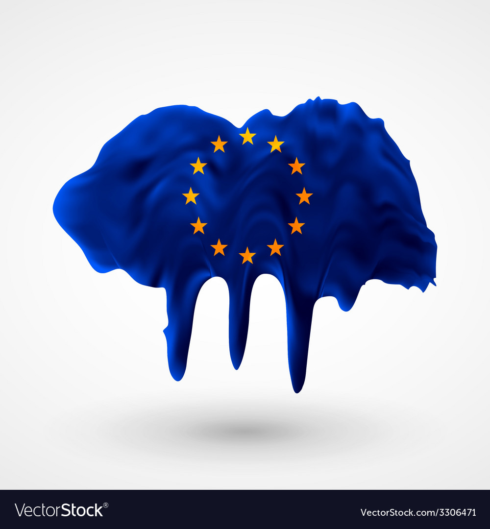 European union flag painted colors vector   Price: 1 Credit (USD $1)