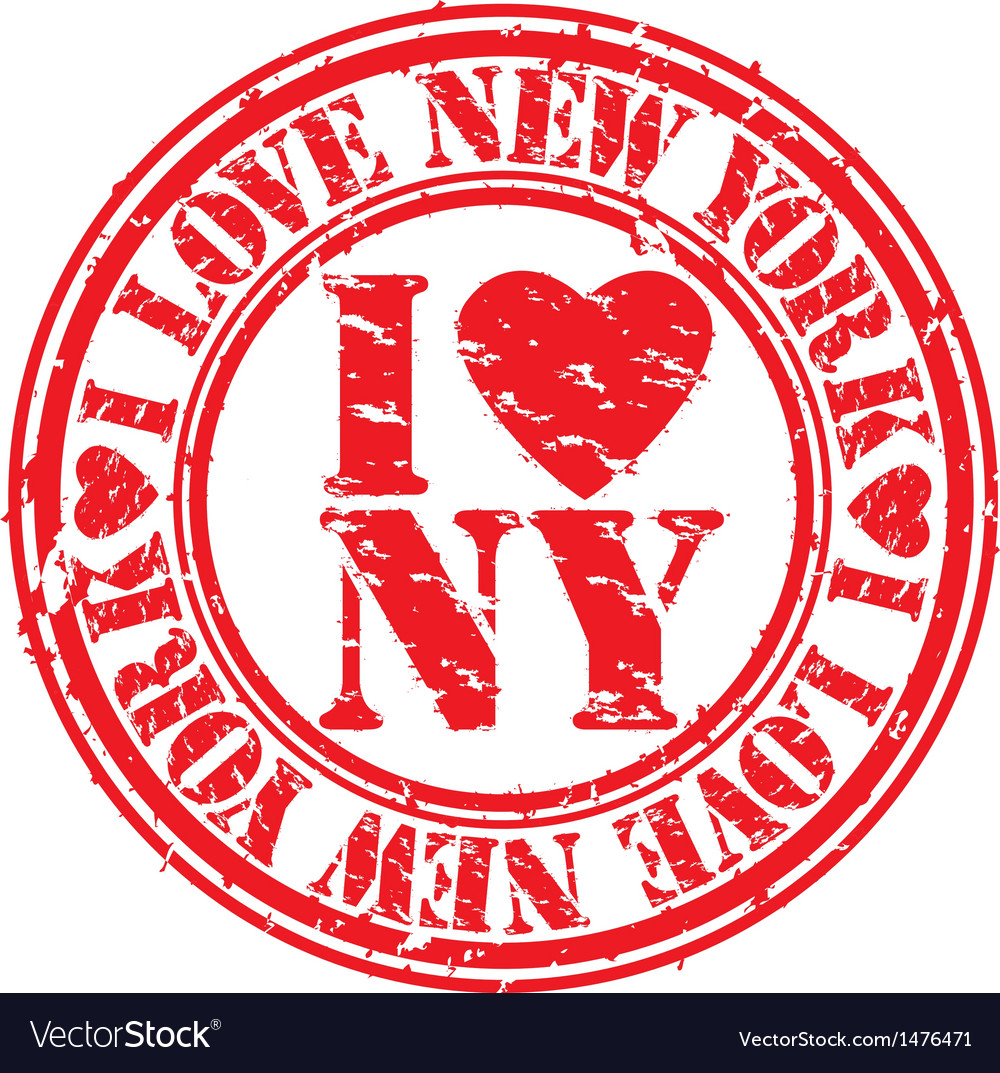 I love new york stamp vector | Price: 1 Credit (USD $1)